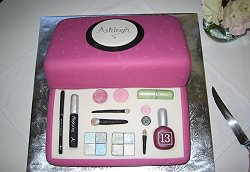 Birthday Makeup Cake