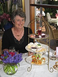 Diana Playford with Royal Ascot and Savoury High Tea