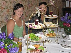 Girls with gluten free high tea